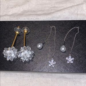 New JCrew Crystal Burst Drop Earrings + Free Pair
